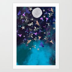Midnight Birds Art Print