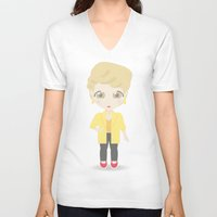 golden girls V-neck T-shirts featuring Girls in their Golden Years - Blanche by Ricky Kwong