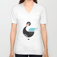 black swan V-neck T-shirts featuring Black Swan by ruudheijden