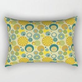 Circle Frenzy - Yellow Rectangular Pillow