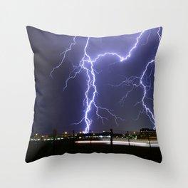 Lightening Strikes Throw Pillow