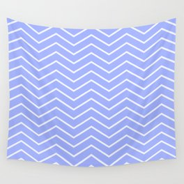Fat Thin Chevrons Dove BLUE Wall Tapestry