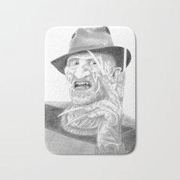 Freddy - Portrait - Drawing Bath Mat