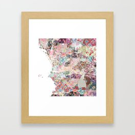 Marseille map Framed Art Print