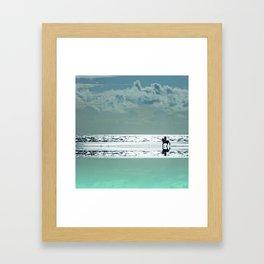 Riding Silver Sands Framed Art Print