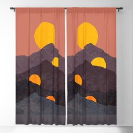 Abstraction_NEW_SUN_MOON_MOUNTAINS_POP_ART_Minimalism_023A Blackout Curtain