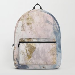 Marble Pattern in Blue, Pink and Gold 2 Backpack