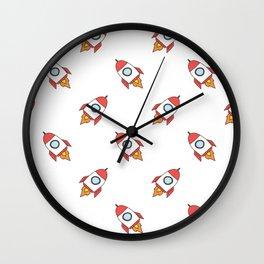 Rocket Pattern Wall Clock