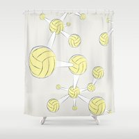 dna Shower Curtains featuring Soccer DNA by HenryWine