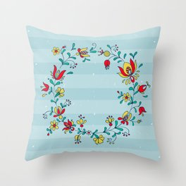 folk ornament Throw Pillow