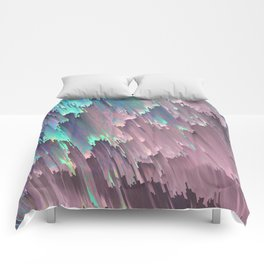 Iridescent Shadows Glitches Comforters