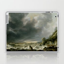 "Simon de Vlieger ""Ship in Distress off a Rocky Coast"" Laptop & iPad Skin"