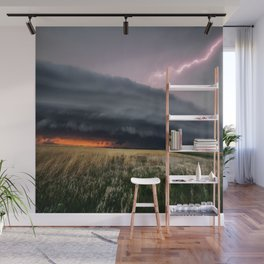 Steamroller - Storm Spans the Kansas Horizon Wall Mural