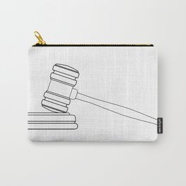Judges Gravel Line Drawing Carry-All Pouch