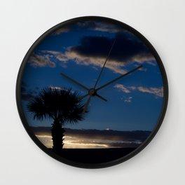 Palm Sunset - IV Wall Clock