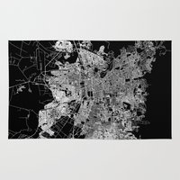 chile Area & Throw Rugs featuring Santiago map Chile by Line Line Lines