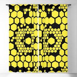 Yellow Honeycombs Blackout Curtain