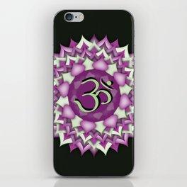 Crown Chakra on black iPhone Skin