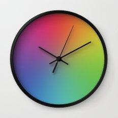 Rainbow Blur Wall Clock