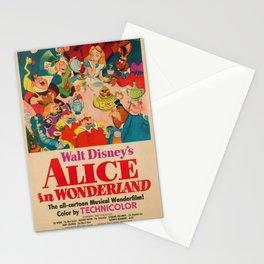 1951 Vintage Alice in Wonderland US Market Film Movie Poster Stationery Cards