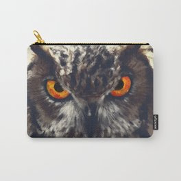 owl look digital painting orcfn Carry-All Pouch