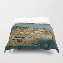 Of Houses and Hills Duvet Cover