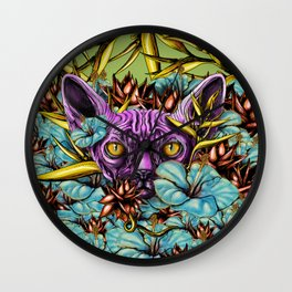 The Sphynx and the Flowers Wall Clock