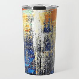 Golden Dawn, Abstract Landscape Art Travel Mug