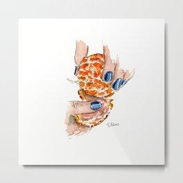 Blue Nails Metal Print