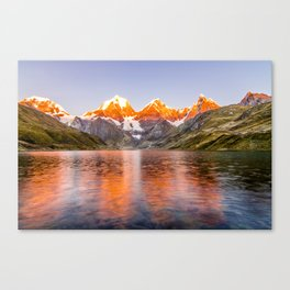 Mountains on Fire Canvas Print