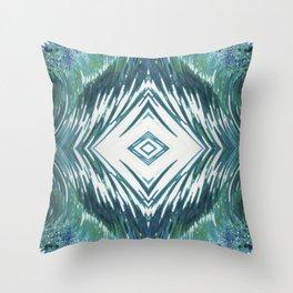 Surfer Waves Ocean Pattern Throw Pillow