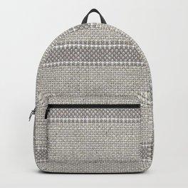 Vintage Grain sack Grey Linen  Backpack