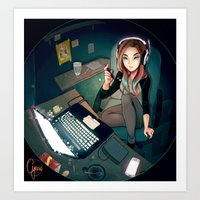 cyarin Art Prints featuring Digital Artist by Cyarin