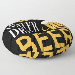 Save Water drink Beer Floor Pillow