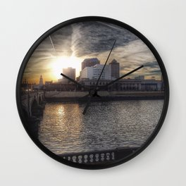 Downtown Des Moines, IA Wall Clock