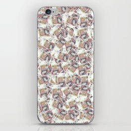 Giant money background 50 pound notes / 3D render of thousands of 50 pound notes iPhone Skin