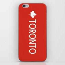 Toronto (White Maple Leaf) iPhone Skin
