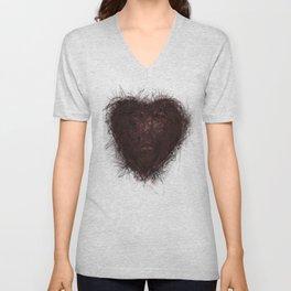 heart of love Unisex V-Neck