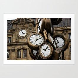 Saint Lazare Train Station in Paris  Art Print