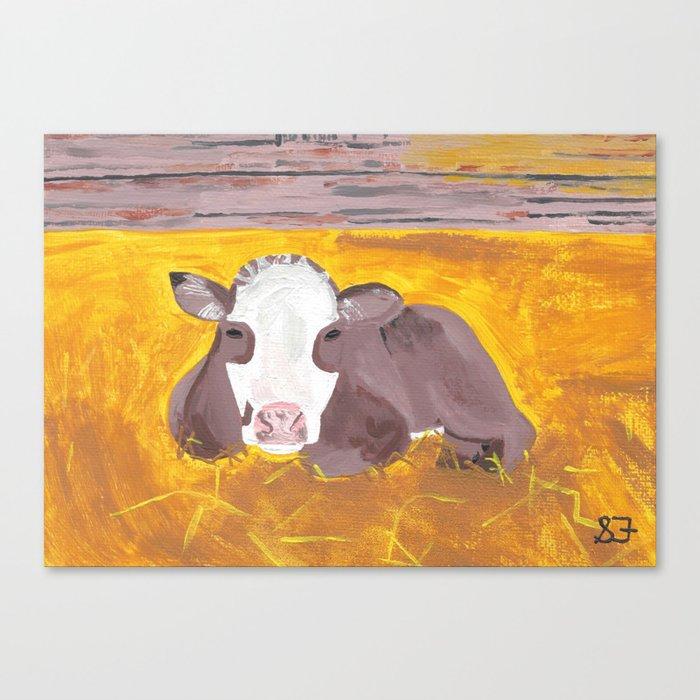 A Heifer Calf Named Darla Canvas Print