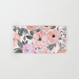 Elegant simple watercolor floral Hand & Bath Towel