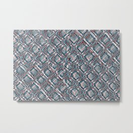 Endless Chainlink Glitch Metal Print