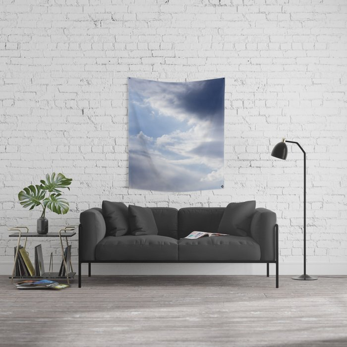Sky and Clouds Wall Tapestry