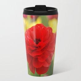 Red Ranunkel Travel Mug