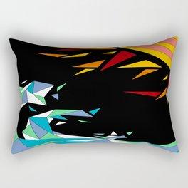 Sun and Wave Rectangular Pillow