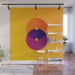 Yellow and Purple 8 (Eight) Wall Mural