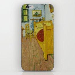 The Bedroom by Vincent van Gogh iPhone Skin