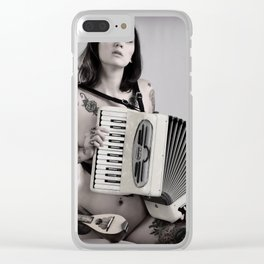 Accordion is Apealing Clear iPhone Case