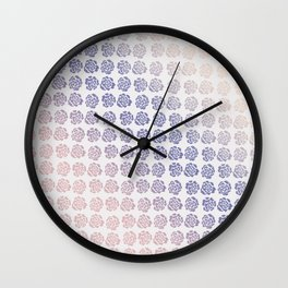 Roses pattern V Wall Clock