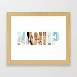 NANI!? Framed Art Print